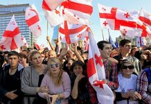 грузия протесты фото